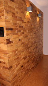Inspirace designového dřevěného obkladu stěny
