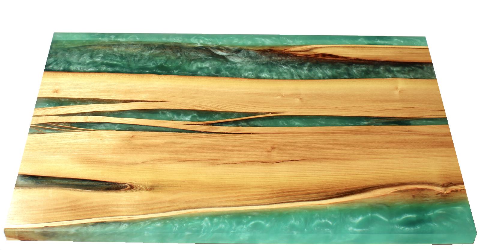 stolek epoxidová pryskyřice black river