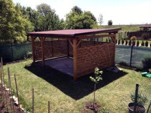 inspirace na zahradní odpočinkova pergola
