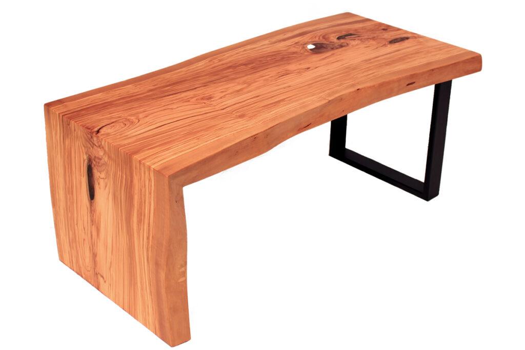 konferencni stolek oliva s epoxidovou pryskyrici ocelove podnozi